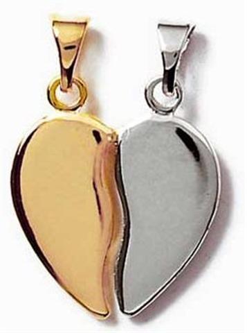 coeur plaqué or argent