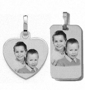 Médaillons Coeur et rectangle Argent 925/1000ème.