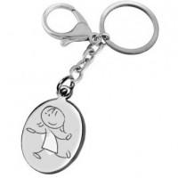 porte clefs gravé avec un dessin ballade