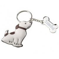 Porte clefs chien gravé