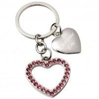 Porte clés deux coeurs