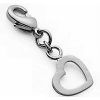 mini Charms coeur creux argent
