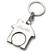 Porte clefs maison avec piece caddie