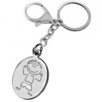 porte clefs gravé avec un dessin