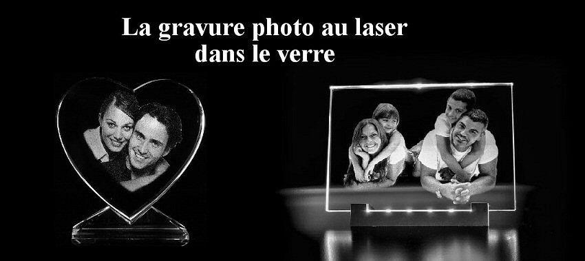 verre gravé au laser