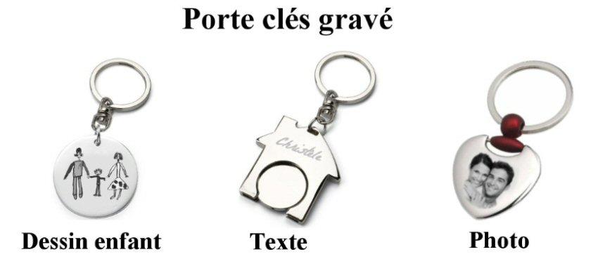 porte clés gravé