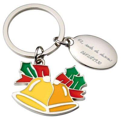 Un porte cles cloches de paques en id e cadeau personnalise grace une gravure texte sur une - Acheter une cloche de porte ...