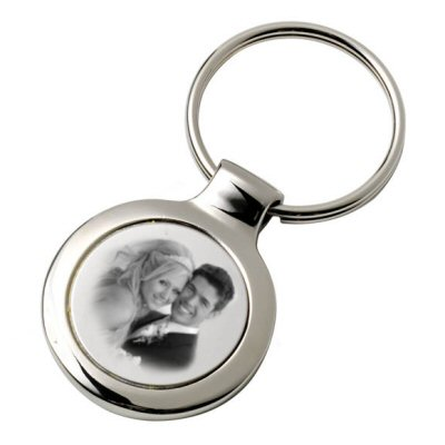 Porte clefs rond photo grave