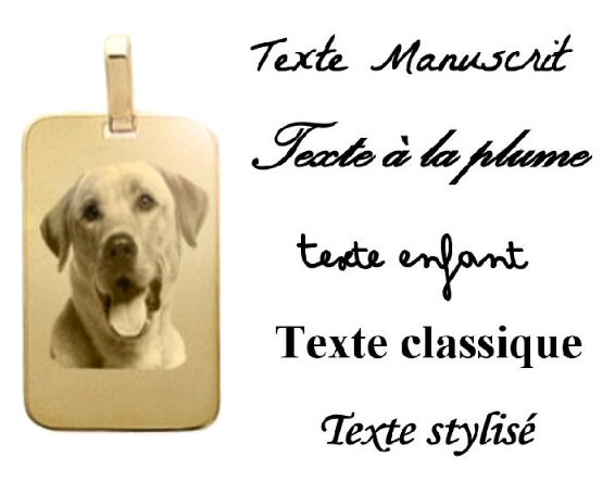 M�daillon rectangle plaqu� or avec la cha�ne 50cm