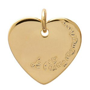 coeur plaque or