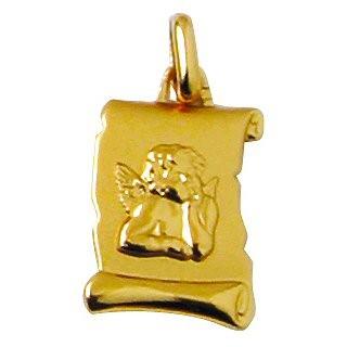 Médaille parchemin ange or 9 carats
