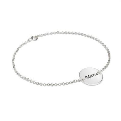 Bracelet rond personnalisé en argent