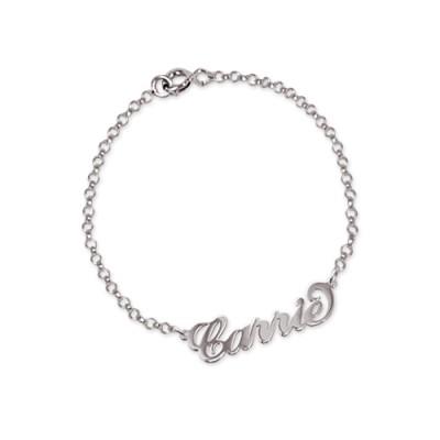Gravure d'un prénom en 3D sur un bracelet en argent