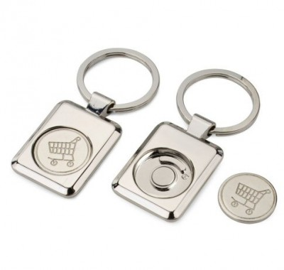 Porte clefs rectangle caddie