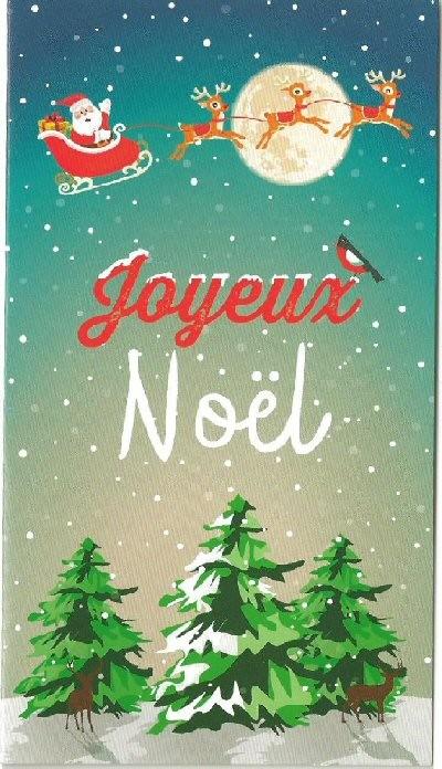 Carte cadeau Joyeux Noël.