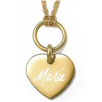 médaille Coeur et sa chaine Plaqué or