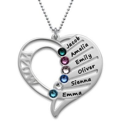 Médaille gravée deux cœurs prénom argent