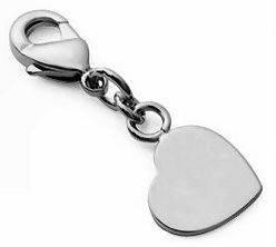 Médaille mini charms petit coeur en argent
