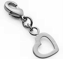 Médaille mini charms coeur creux en argent