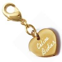 Charms coeur bombé plaqué or