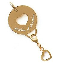 Pendentif accroche charms plaqué or
