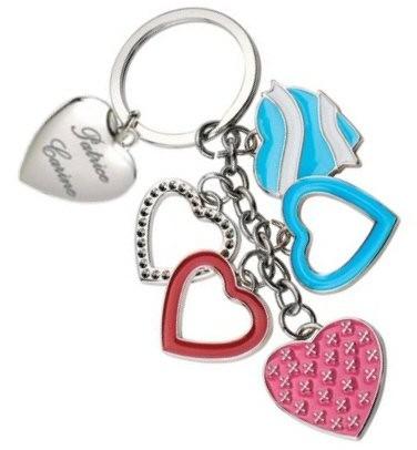 Porte clefs multi coeurs