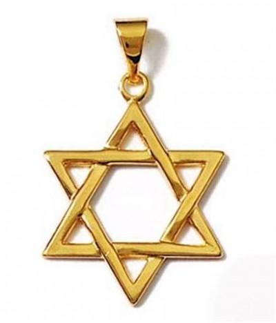 Pendentif étoile de David plaqué or