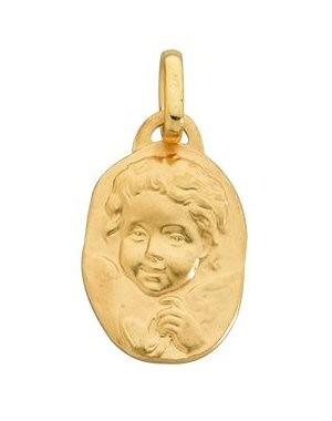 Médaille bapteme avec ange en or 9 carats