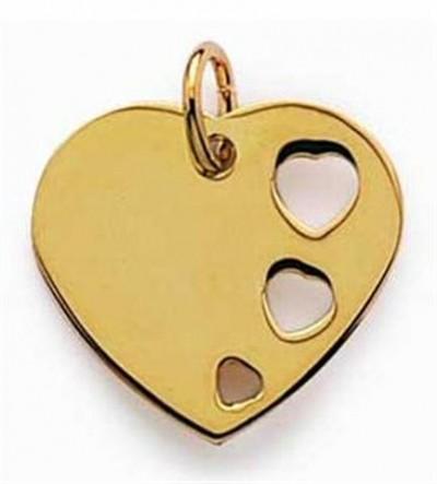 Coeur plaqué or.