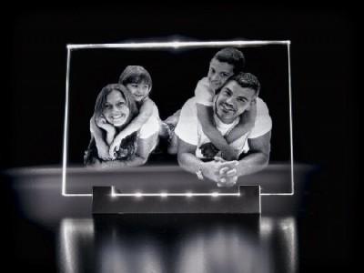 Ensemble support lumineux et Moyenne plaque photo en horizontale