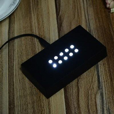 Socle lumineux qui brille pour gravure photo laser