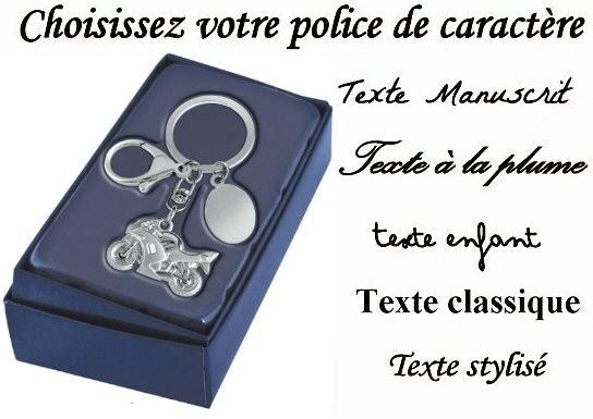 Un porte cl s moto en idee cadeau personnalis grace un texte grav sur une medaille - Porte capitonnee prix ...