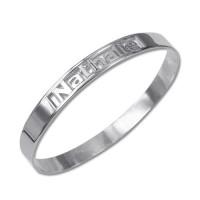 Bracelet homme personnalisée style métallique en argent