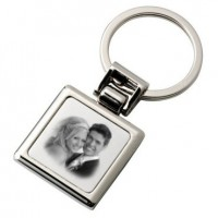 Porte clefs carre photo grave
