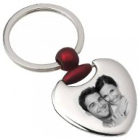 gravure photo d'un porte clefs coeur