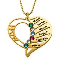 Médaille gravée deux cœurs prénom plaqué or