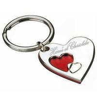 Portes clés coeur gravé avec un texte