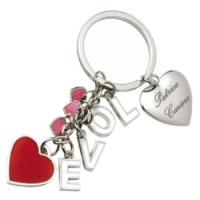 Porte clefs multi coeurs love