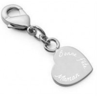 Charms coeur argent
