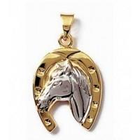 Bijou fer à cheval plaqué or et argent.