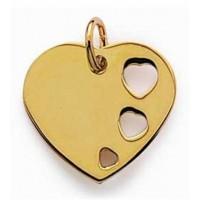 Médaillon cœur plaqué or.