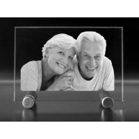 Plaque photo de taille standard gravée au laser en horizontale
