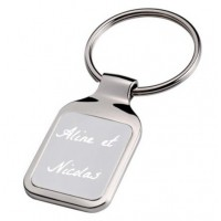 Porte clefs rectangle texte
