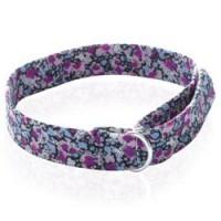 Bracelet en tissus avec anneaux en argent
