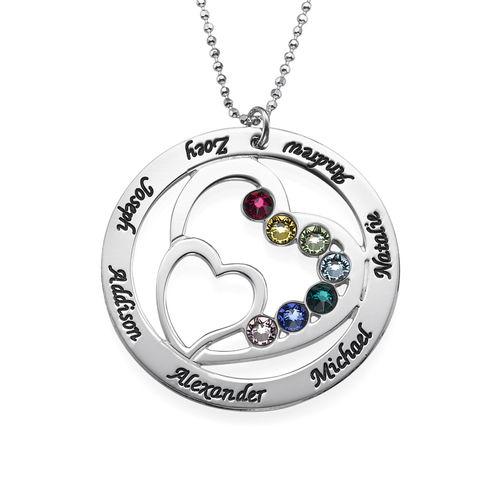 collier double coeur prénom gravé