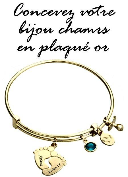 Gravez votre bijou charms plaqué or