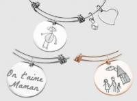 Gravure d'un dessin sur bracelet