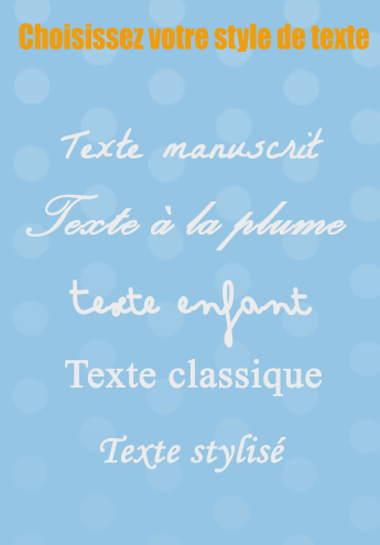 Choisissez votre style de texte
